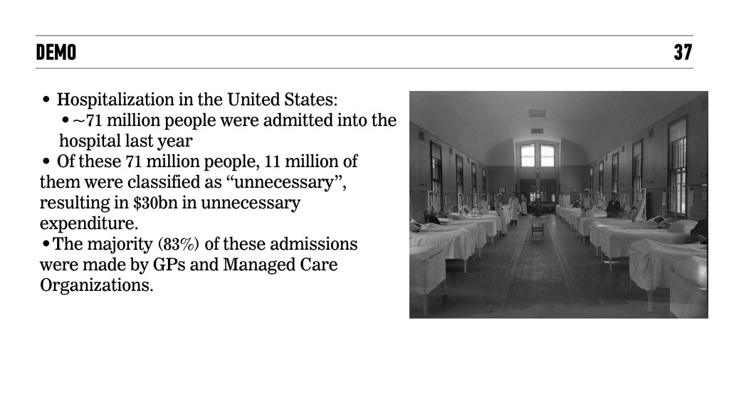 DEMO 37 • Hospitalization in the United States:...