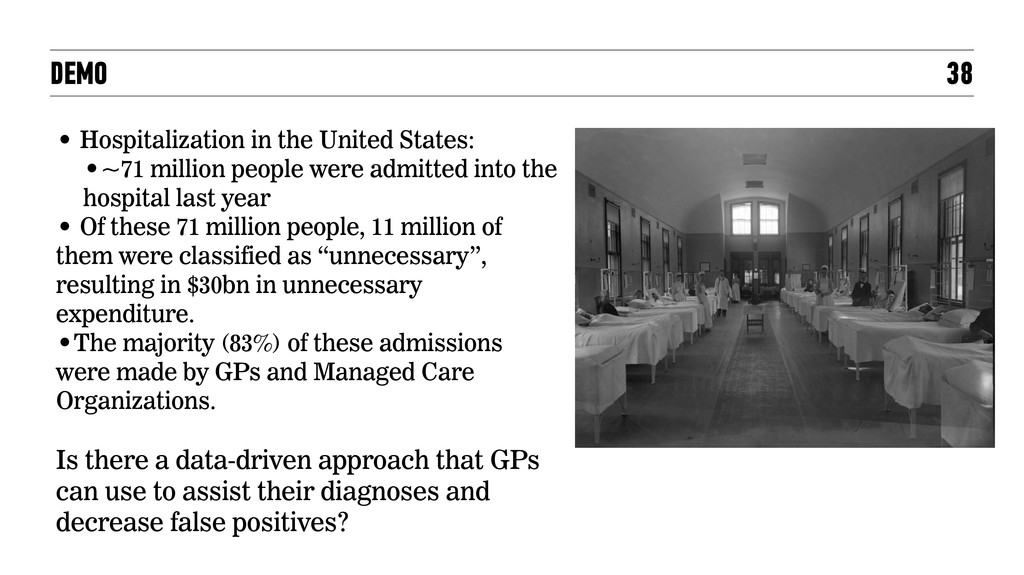 DEMO 38 • Hospitalization in the United States:...