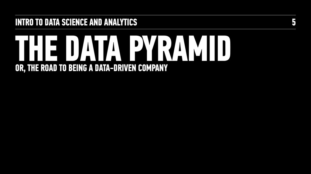 INTRO TO DATA SCIENCE AND ANALYTICS THE DATA PY...