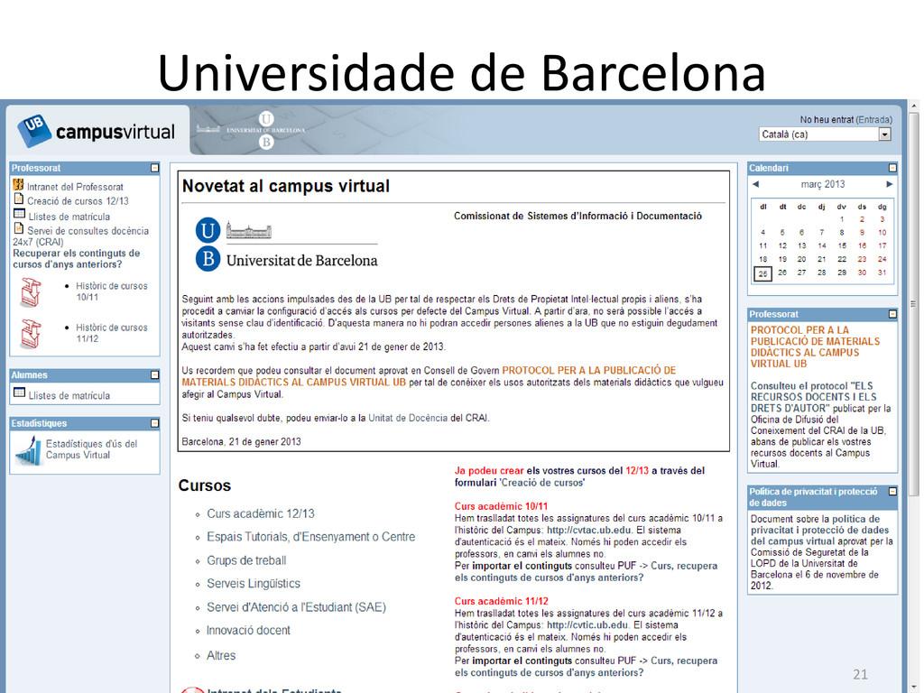 Universidade de Barcelona 21
