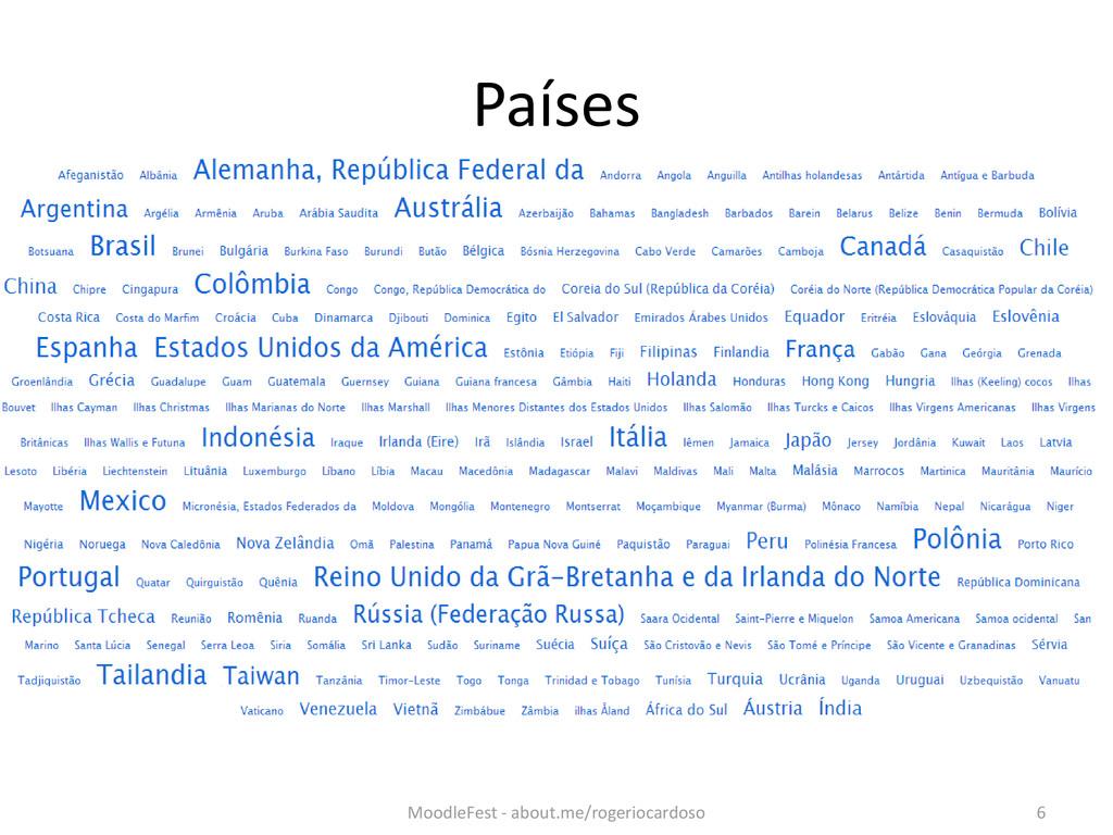 Países MoodleFest - about.me/rogeriocardoso 6