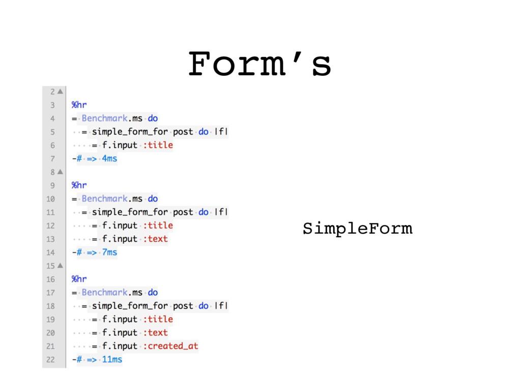 Form's SimpleForm