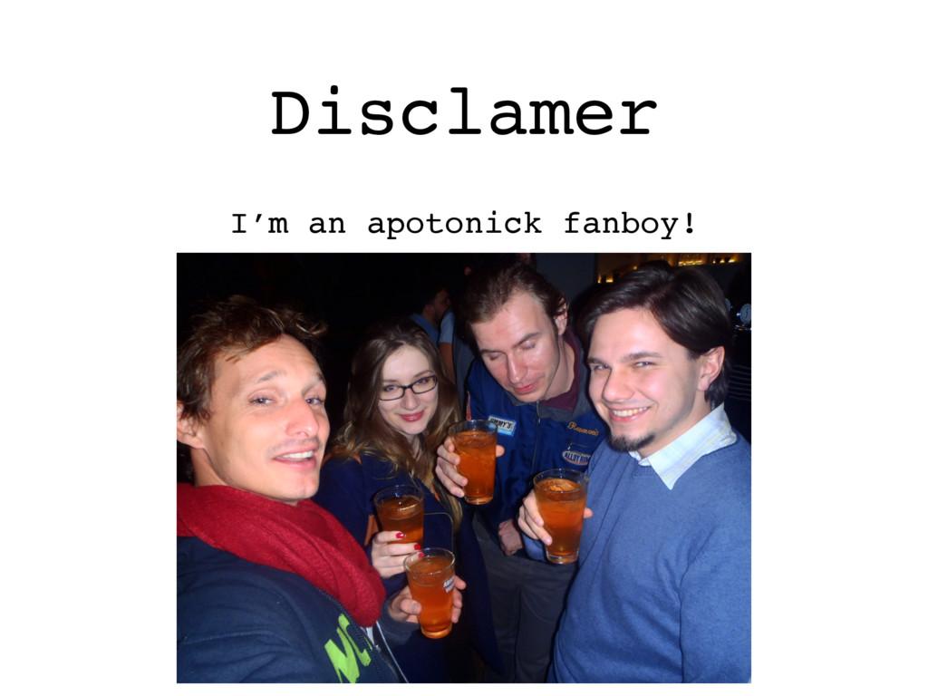 Disclamer I'm an apotonick fanboy!