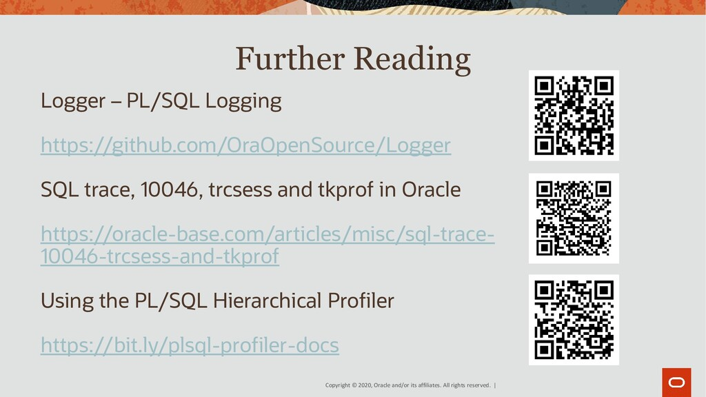 Copyright © 2020, Oracle and/or its affiliates....