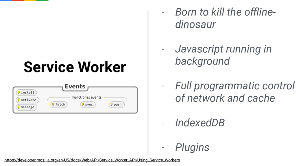 Service Worker - Born to kill the offline- dinosa...