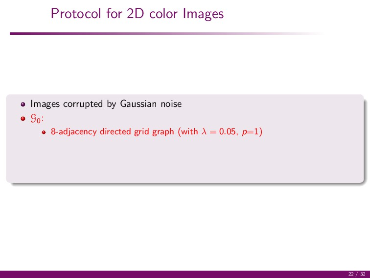 Protocol for 2D color Images Images corrupted b...