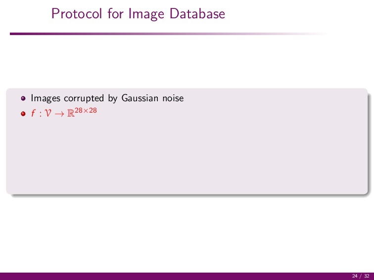 Protocol for Image Database Images corrupted by...