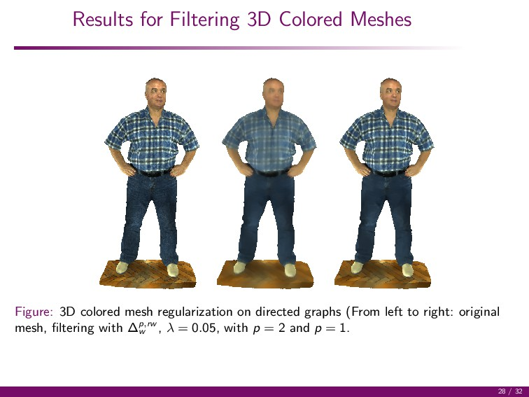Results for Filtering 3D Colored Meshes Figure:...