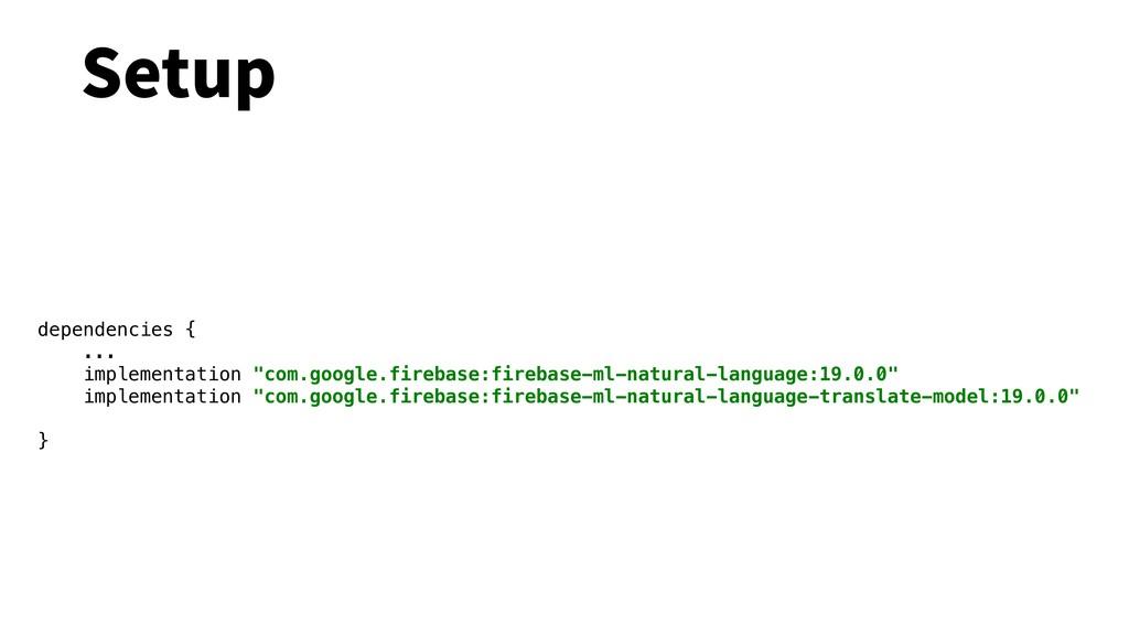 "Setup dependencies { ... implementation ""com.go..."