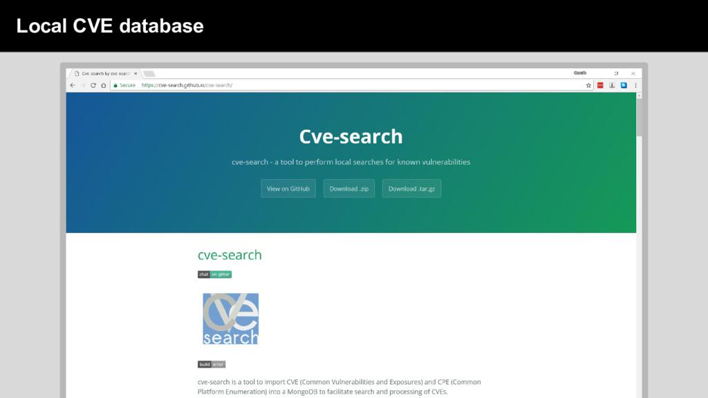 sdsd Local CVE database