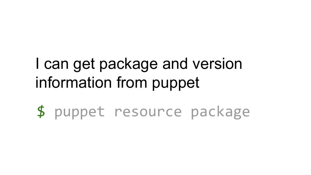 I can get package and version information from ...
