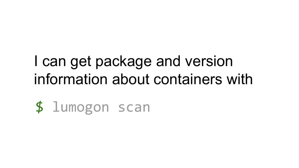 I can get package and version information about...