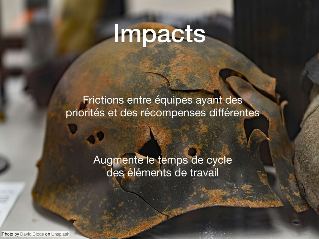 Impacts Frictions entre équipes ayant des prior...