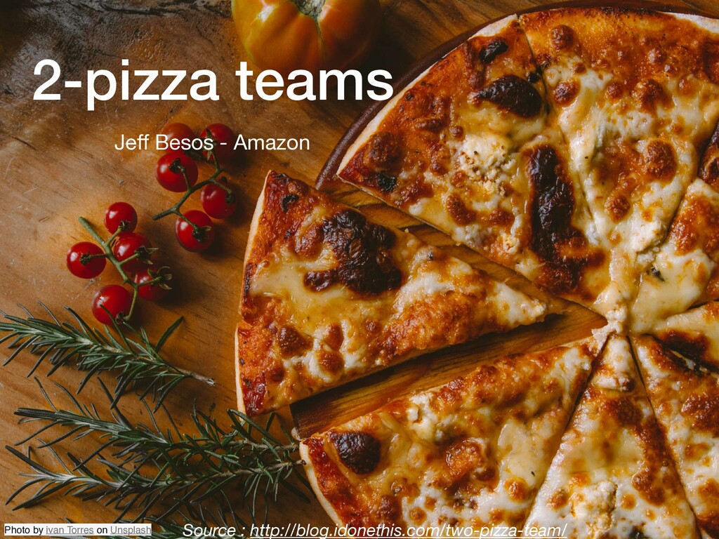 2-pizza teams Source : http://blog.idonethis.co...