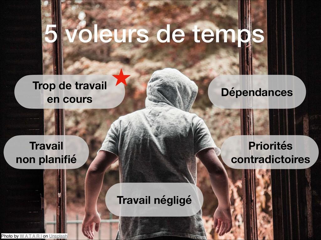 5 voleurs de temps Photo by W A T A R I on Unsp...
