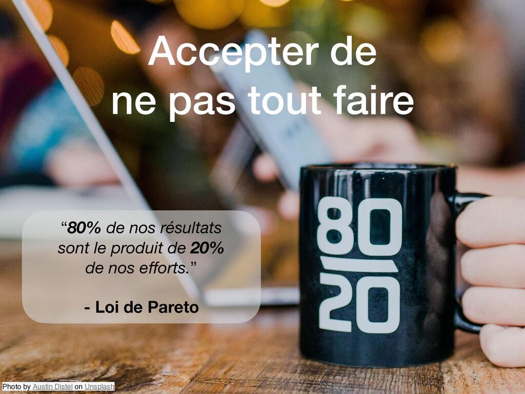 """""""80% de nos résultats sont le produit de 20% de..."""