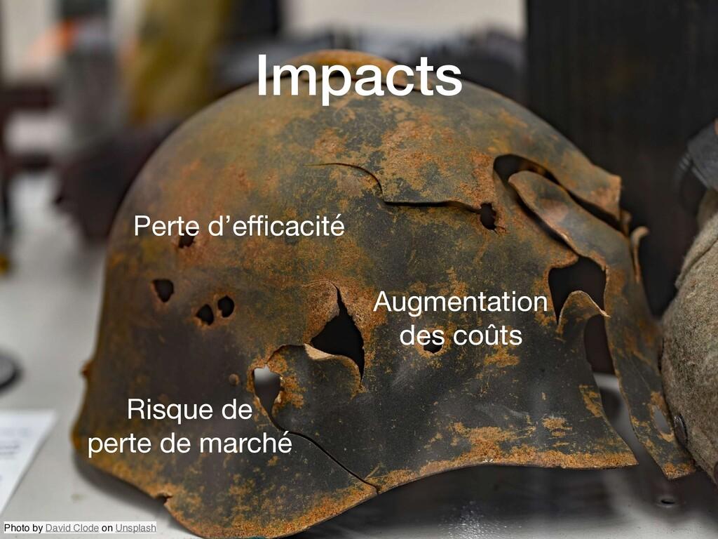Impacts Perte d'efficacité Augmentation des coûts...