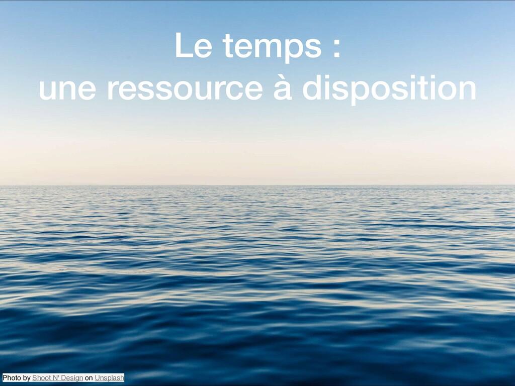 Le temps : une ressource à disposition Photo by...