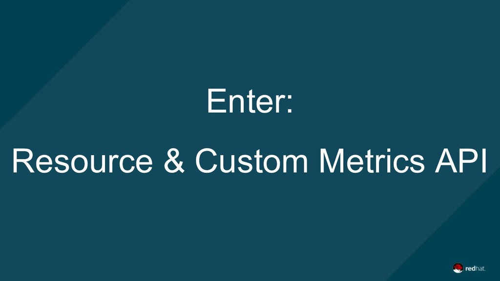 Enter: Resource & Custom Metrics API