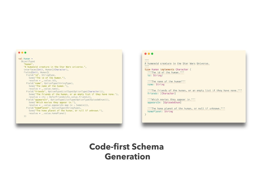 Code-first Schema Generation