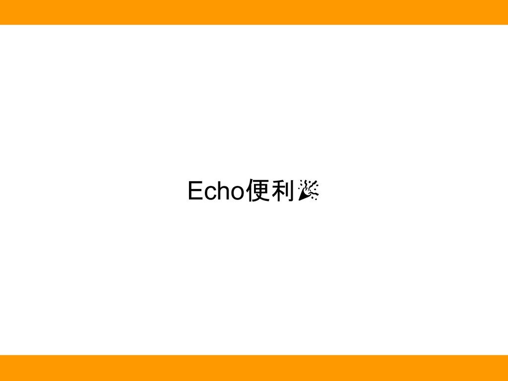 Echo便利