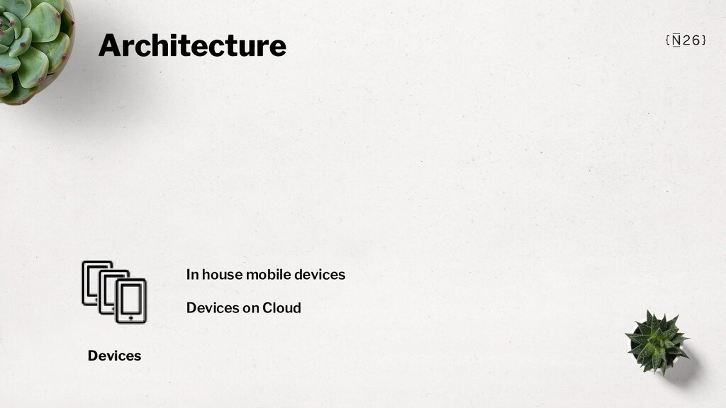 Architecture Devices In house mobile devices De...