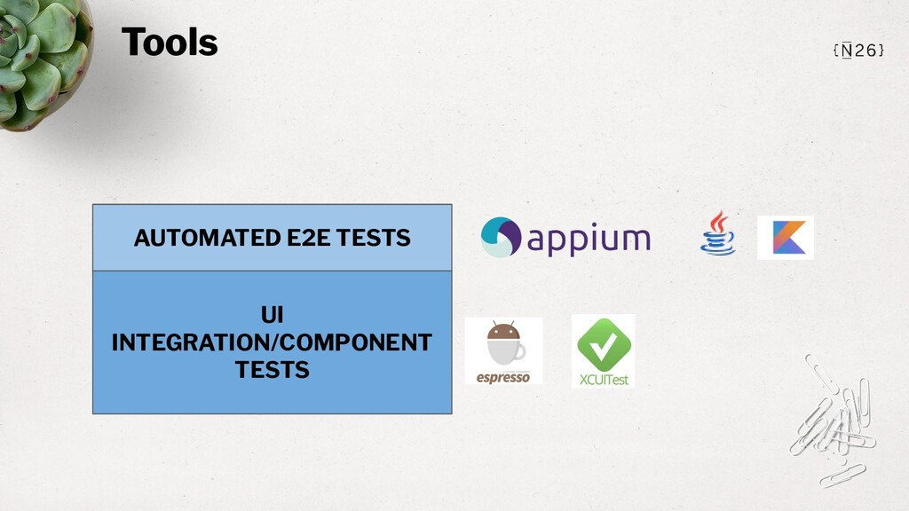 Tools UI INTEGRATION/COMPONENT TESTS AUTOMATED ...