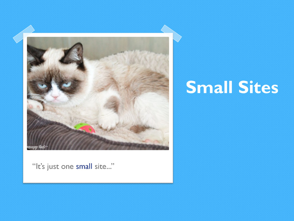 """Small Sites """"It's just one small site..."""""""