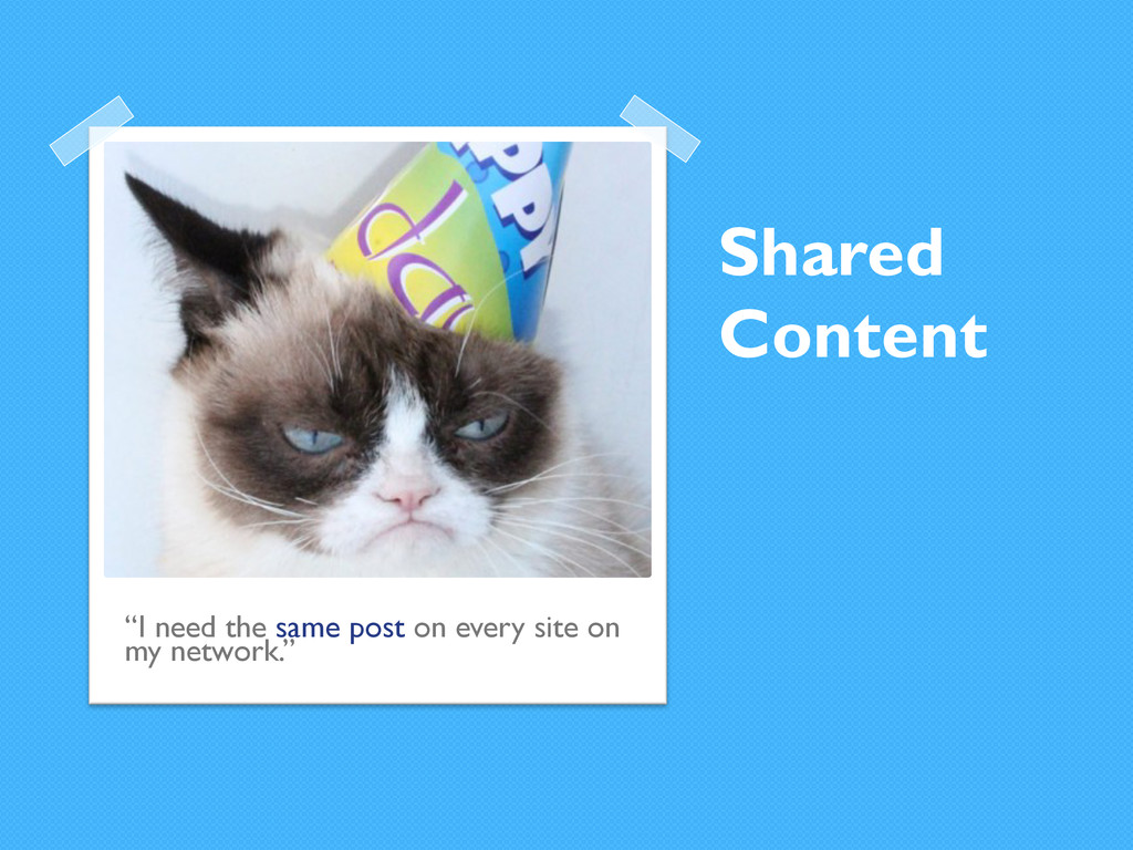 """Shared Content """"I need the same post on every s..."""