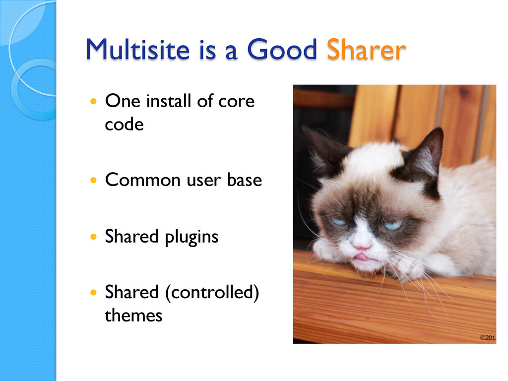 Multisite is a Good Sharer — One install of c...