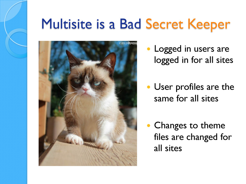 Multisite is a Bad Secret Keeper — Logged in ...