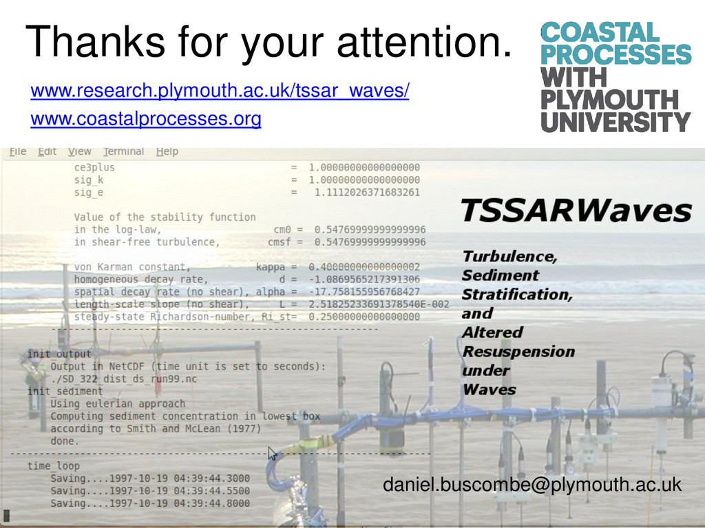 Thanks for your attention. www.research.plymout...
