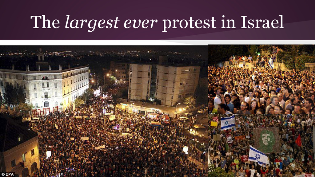 The largest ever protest in Israel