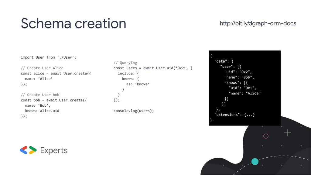 Schema creation import User from './User'; // C...