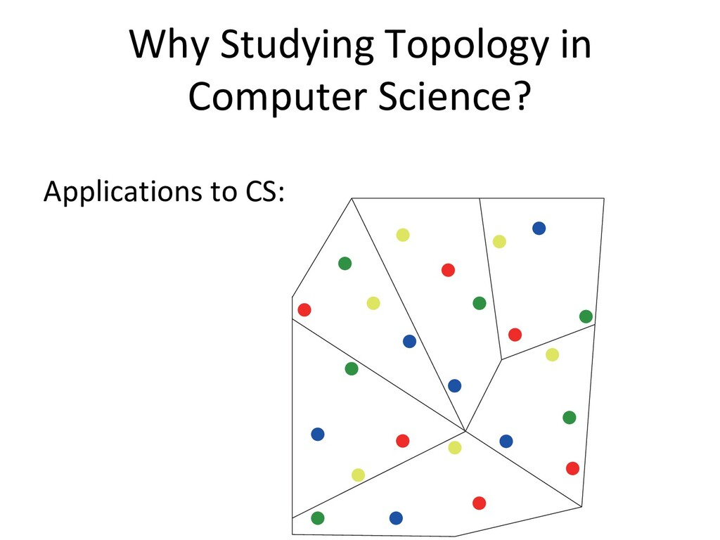 Why Studying Topology in Computer Science? Appl...