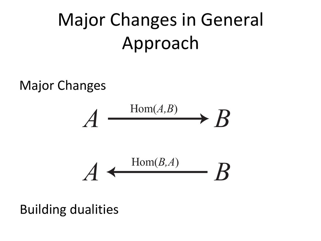 Major Changes in General Approach Major Changes...