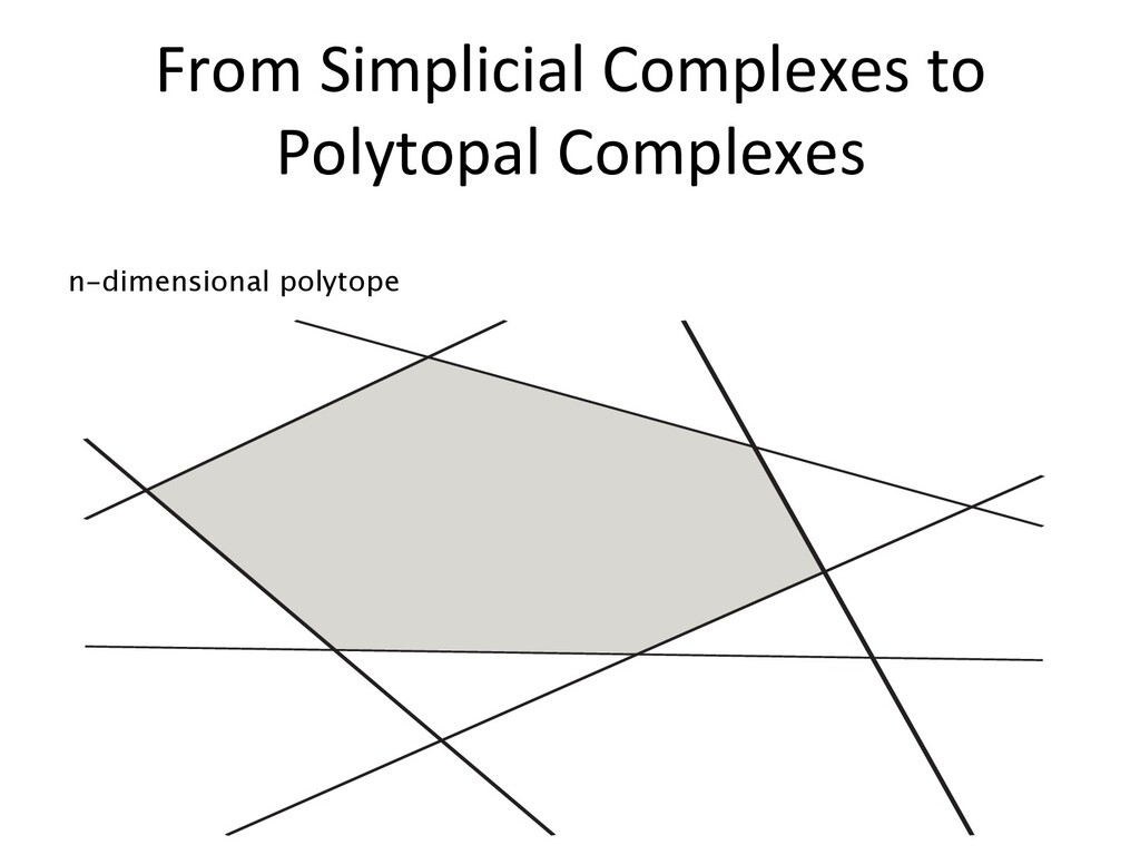 From Simplicial Complexes to Polytopal Complexe...
