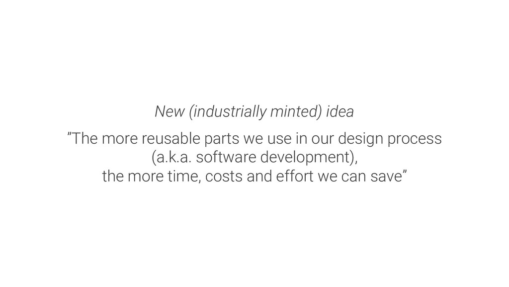 """New (industrially minted) idea """"The more reusab..."""