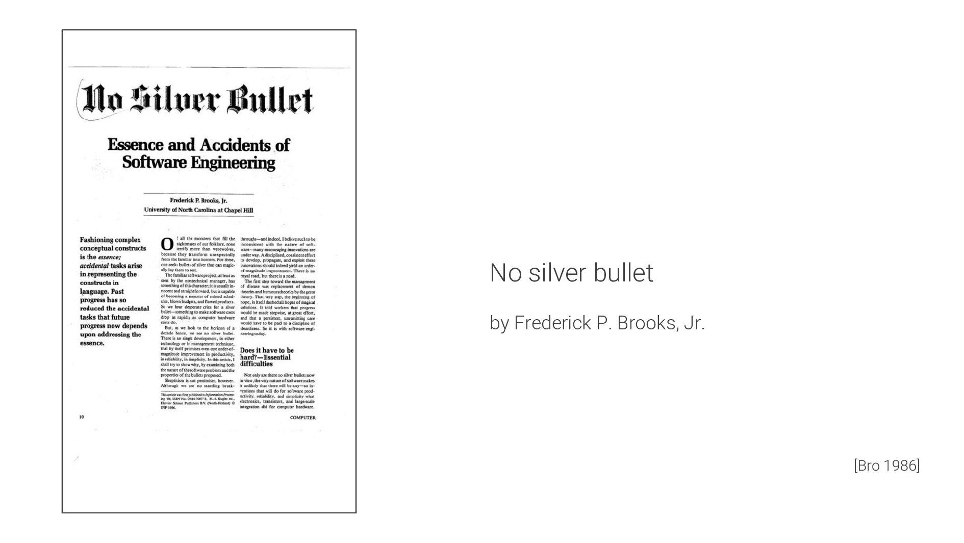 No silver bullet by Frederick P. Brooks, Jr. [B...