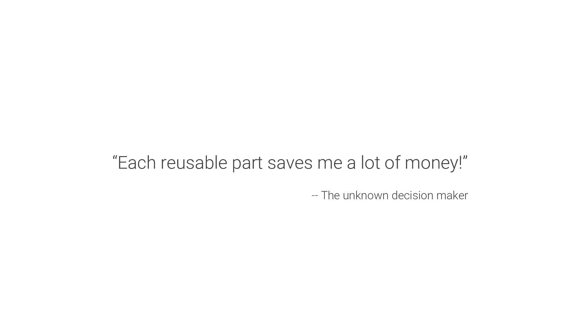 """Each reusable part saves me a lot of money!"" -..."