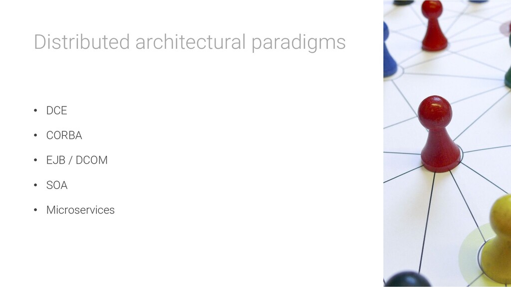 Distributed architectural paradigms • DCE • COR...