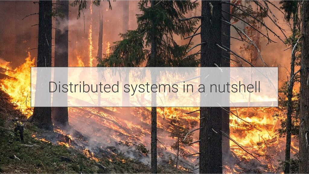 Distributed systems in a nutshell