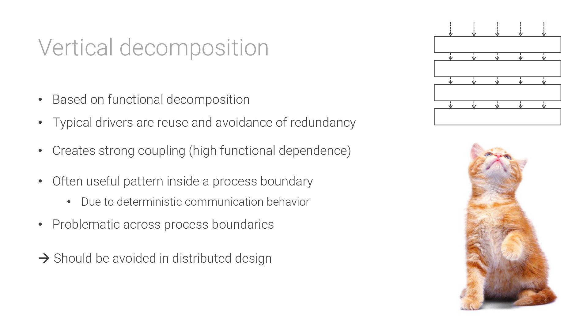 Vertical decomposition • Based on functional de...
