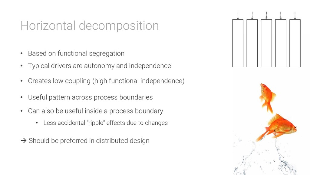 Horizontal decomposition • Based on functional ...