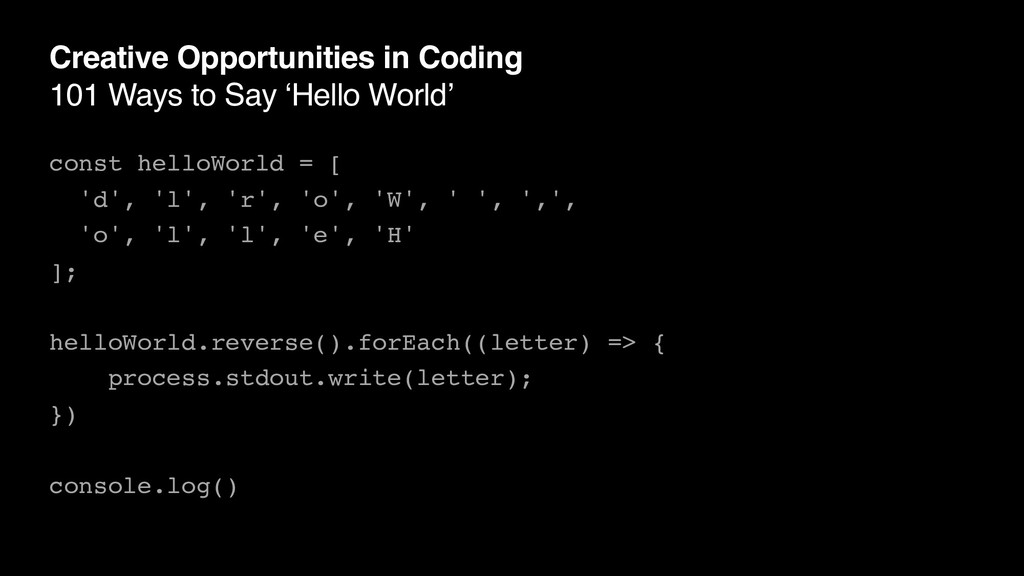 Creative Opportunities in Coding 101 Ways to Sa...
