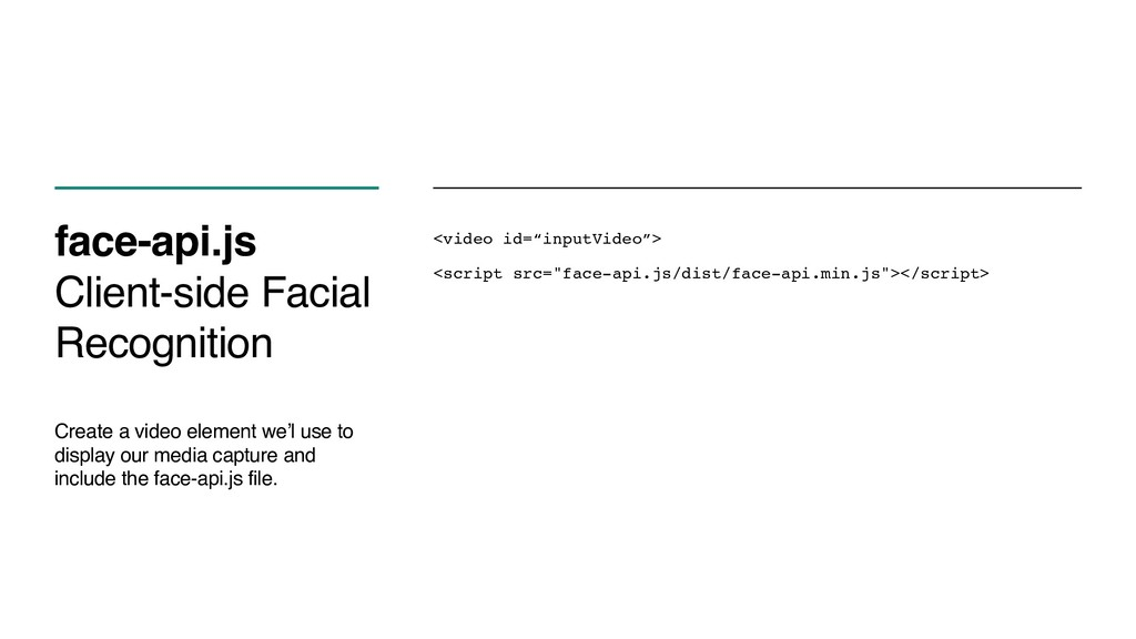 face-api.js Client-side Facial Recognition Crea...
