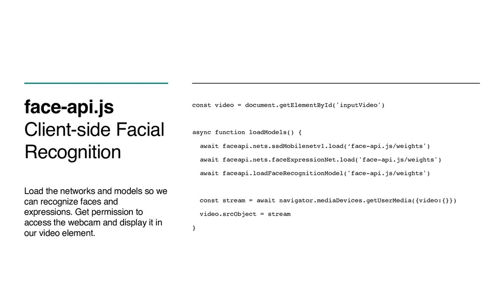 face-api.js Client-side Facial Recognition Load...