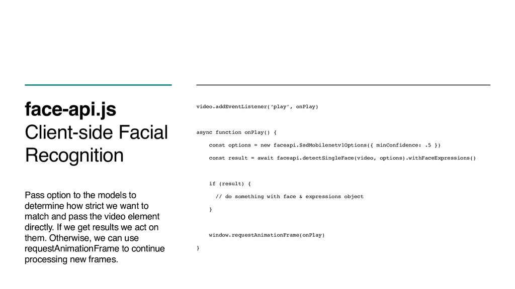 face-api.js Client-side Facial Recognition Pass...