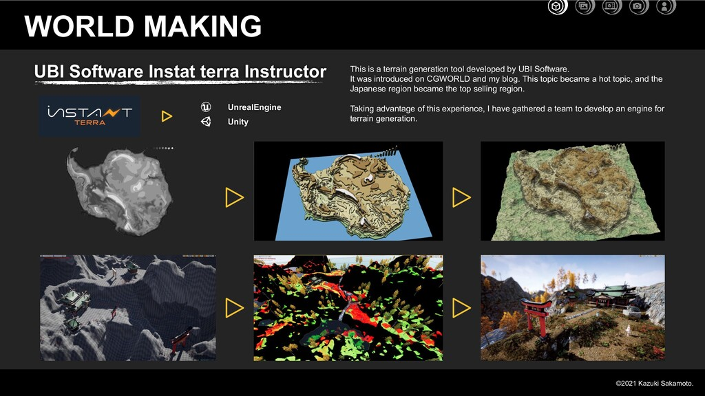 Unity UnrealEngine WORLD MAKING This is a terra...
