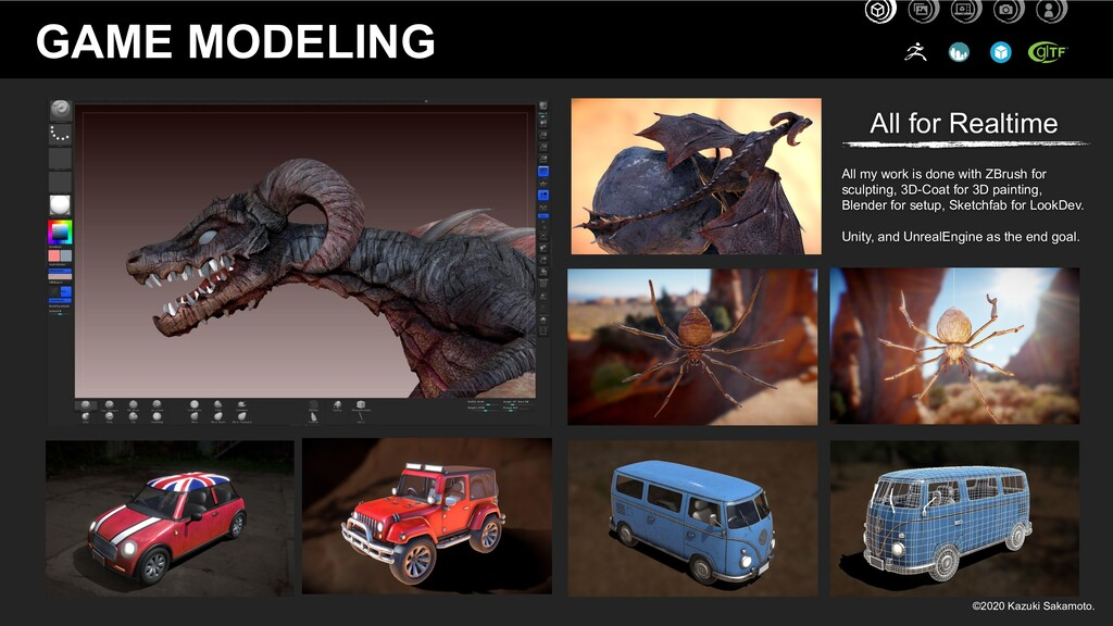 GAME MODELING All my work is done with ZBrush f...
